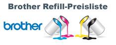 Brother Refill-Preisliste