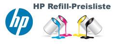 HP Refill-Preisliste