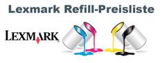 Lexmark Refill-Preisliste