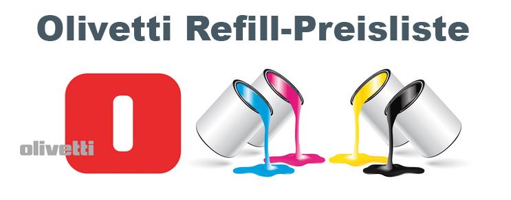 Olivetti Refill Preisliste