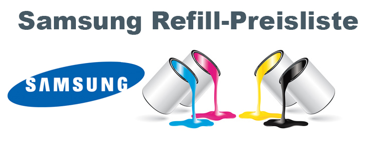 Samsung Refill Preisliste
